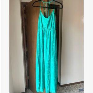 NWT S green maxi dress